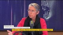 """Mariage PSA avec Fiat-Chrysler : """"On est attaché à ce que l'emploi soit maintenu en France, que les sites industriels soient maintenus"""", assure Elisabeth Borne"""