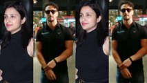 Spotted Parineeti Chopra, Tiger Shroff with sister Krishna Shroff at the airport