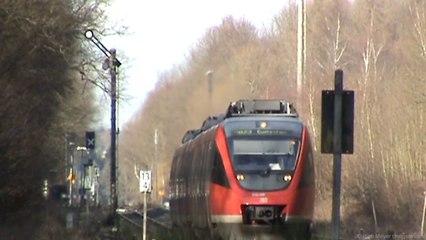 BR644 Talent auf der Voreifelbahn beim Bahnhof Kottenforst. Damals noch mit Formsignalen.