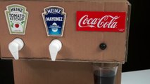 How to make Ketchup Mayonnaise and Coca Cola Machine from Cardboard
