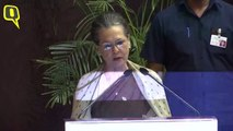 Sonia Gandhi Gives Speech At Indira Gandhi Award For National Integration 2019