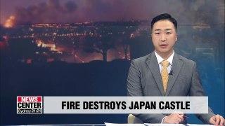 Fire destroys Japan's Shuri Castle
