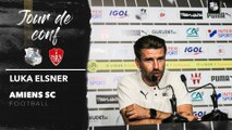 Avant  le match Amiens SC - Stade Brestois, Luka Elsner