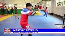 Boxer Nesthy Petecio resumes training for 30th SEA Games