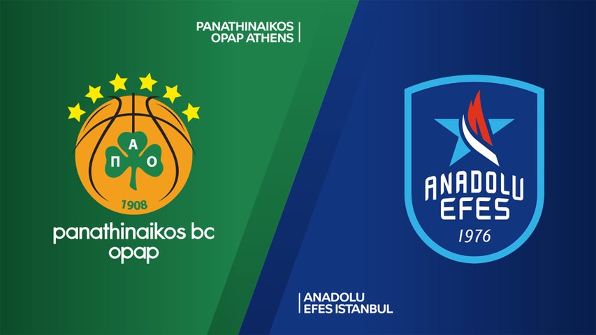 Panathinaikos OPAP Athens - Anadolu Efes Istanbul Highlights   Turkish Airlines EuroLeague, RS Round 6