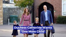 One More Baby For Duchess Catherine