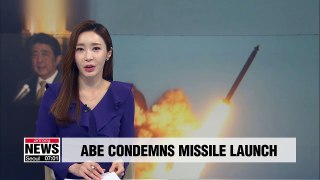 Japanese PM condemns N. Korea missile launch, vows to work with S. Korea