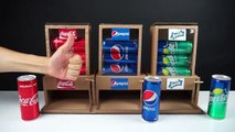 How to Make Coca Cola, Pepsi and Sprite Vending Machine