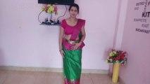 How To Wear Osaria Sri Lankan Saree __ Traditional Sri Lankan Saree