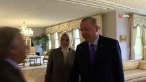 İSTANBUL-GÖRÜNTÜ) Cumhurbaşkanı Erdoğan BM Genel Sekreteri Antonio Guterres'i kabul etti
