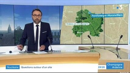 PONTFAVERGER-MORONVILLIERS : le maire, Damien GIRARD, réfléchit à une action de justice contre le CEA - France 3 Champagne-Ardenne - 31 octobre 2019