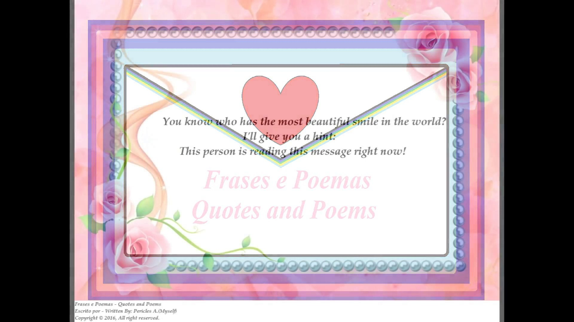 You Know Who Has The Most Beautiful Smile In The World Quotes And Poems