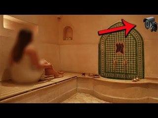 اكتشاف كاميرات مراقبه داخل حمام نساء شعبي فى المغرب