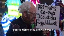 Déguisements, ambiance festive et une touche de politique: New York fête Halloween
