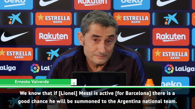 Messi's Argentina recall not a blow for Barca - Valverde