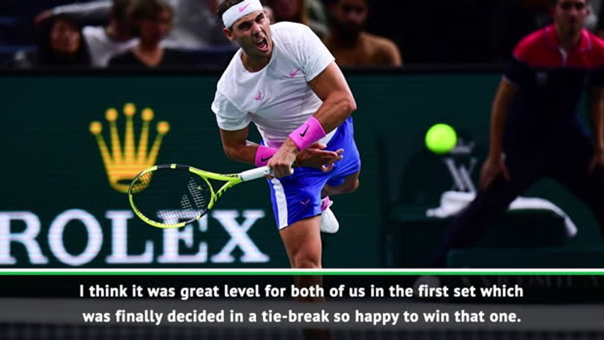 Paris Masters: Nadal pleased with his performance against Tsonga