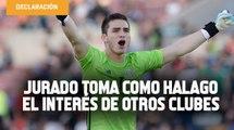 Sebastián Jurado toma como halago el interés de otros clubes