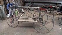 93 Yaşındaki Mehmet Dede, camiye gitmek için bisiklet yaptı