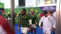 Teams walk out for Rugby World Cup Final