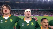 South Africa anthem before the Rugby World Cup Final