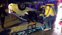 Edirne'de trafik kazası, otomobil takla attı: 1 yaralı