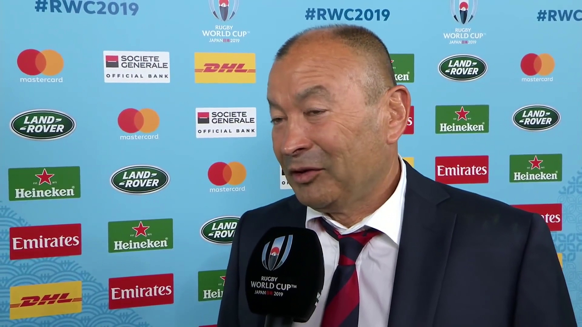 Eddie Jones Interview after the Rugby World Cup 2019 Final