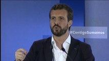 """Casado afirma que tiene """"las mismas opciones para gobernar"""" que Pedro Sánchez"""