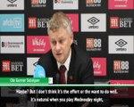 Solskjaer hints at Man United selection mistake