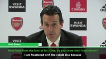 Emery shares fans frustration at poor Arsenal results