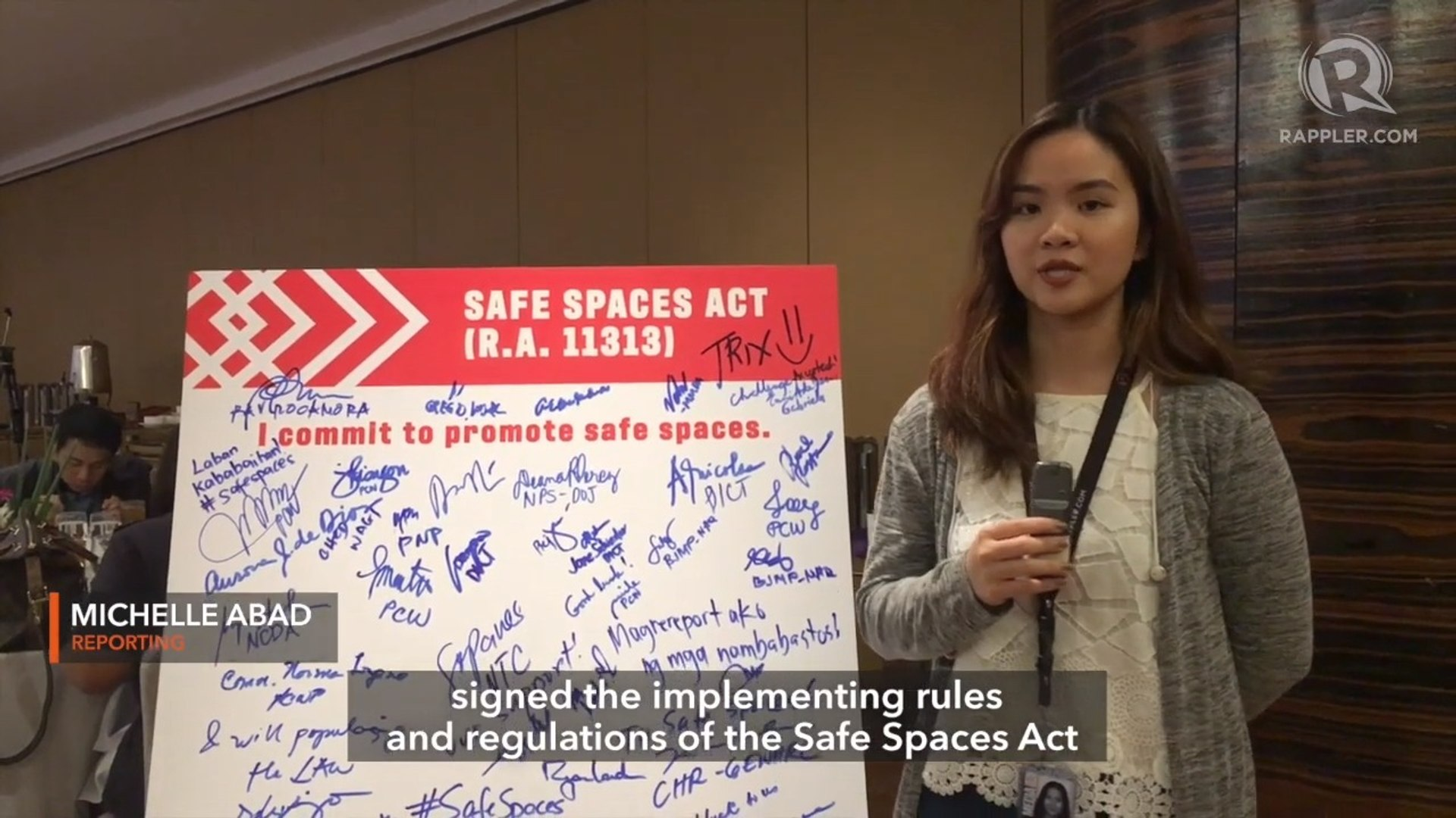 Safe spaces extend to physical, online spaces following 'Bawal Bastos' law