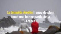 La tempête Amélie frappe de plein fouet une bonne partie de la France