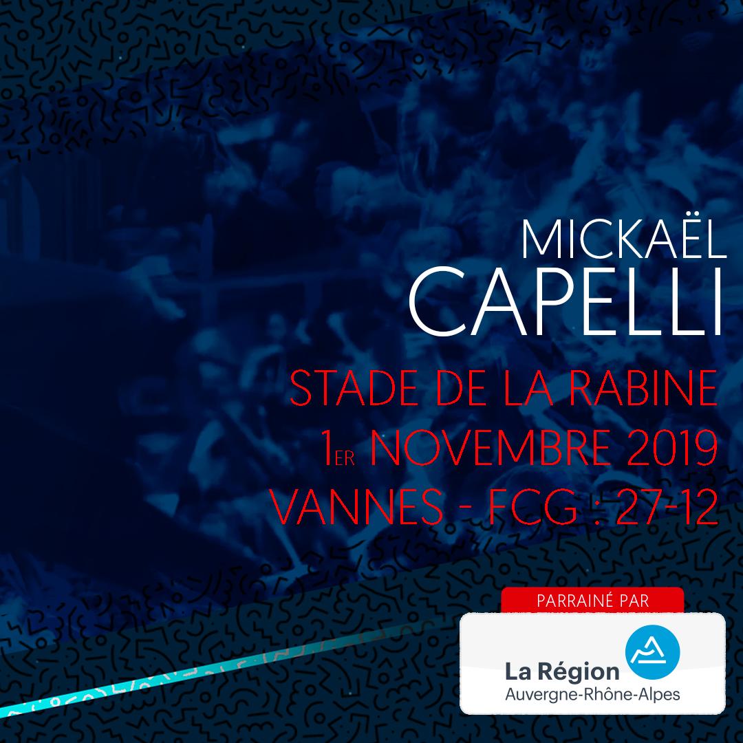 L'essai de Mickaël Capelli à Vannes