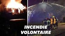 À Chanteloup-les-Vignes, les images d'un chapiteau incendié lors d'une nuit de violences