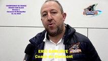 Hockey sur glace Interview d'Eric Sarliève Coach des Sangliers Arvernes - Clermont-Ferrand, le 31/10/2019 (Clermont-Ferrand VS Montpellier - D1))