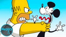Top 10 Times The Simpsons Made Fun of Disney