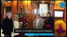 Alberto Fernández visitó la Basílica de la Virgen de Guadalupe en México