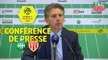 Conférence de presse AS Saint-Etienne - AS Monaco (1-0) : Claude  PUEL (ASSE) - Leonardo JARDIM (ASM) / 2019-20