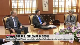 Senior U.S. diplomat holds talks with Seoul's foreign minister as GSOMIA termination looms