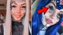 Wanita tato bola mata jadi biru, buta 3 minggu - TomoNews