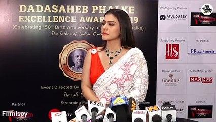 Kajol Hot Look In Open Saree