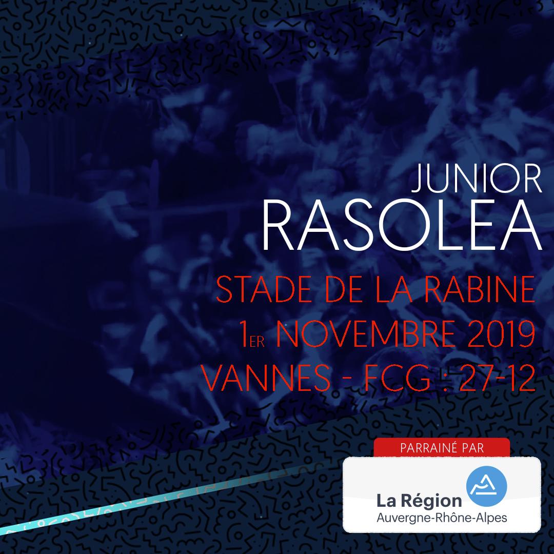 L'essai de Junior Rasolea à Vannes