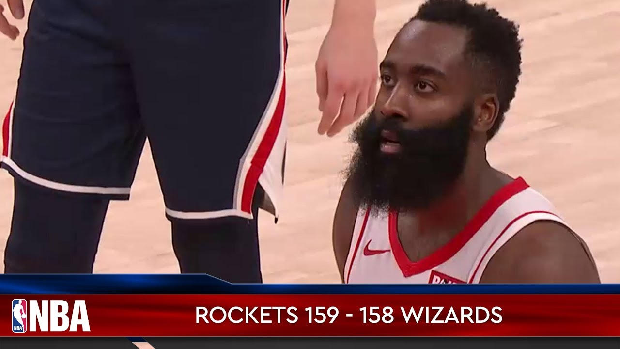 Houston Rockets 159 - 158 Washington Wizards