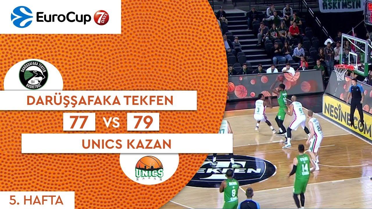 Darüşşfaka Tekfen 77 - 79 Unics Kazan  | Maç Özeti - EuroCup 5. Hafta