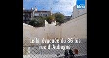 Leila, évacuée du 86 bis rue d'Aubagne