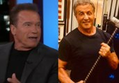 Arnold Schwarzenegger on pranking Sylvester Stallone. Sly reacts !