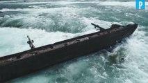 Chutes du Niagara : une épave coincée depuis 1918 s'est déplacée