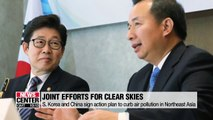 S. Korea-China signs an action plan for clearer sky