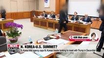 S. Korean itel says N. Korean leader looking to hold 3rd summit with U.S. in December