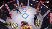 Un combat MMA dingue en 3 vs 3 en même temps dans la cage