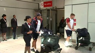 England Rugby World Cup squad welcomed back home